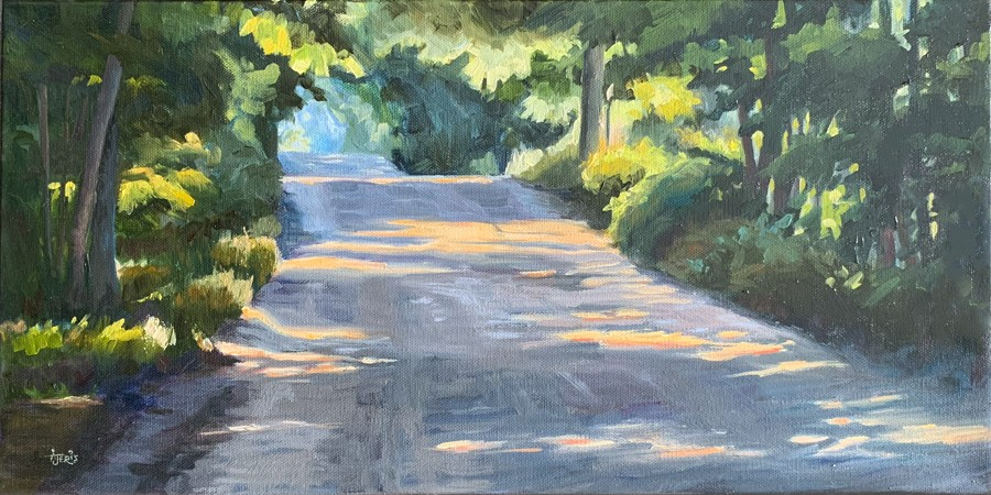 """On the Road Again"" original fine art by Andrea Jeris"