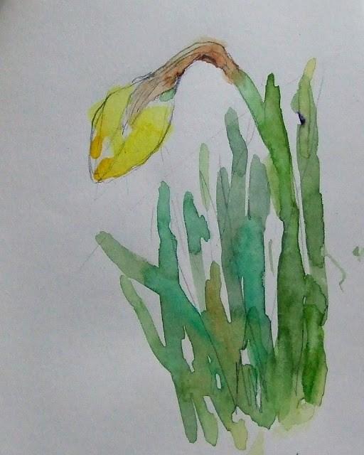 """""""sketch 1"""" original fine art by Mitsuru Cope"""