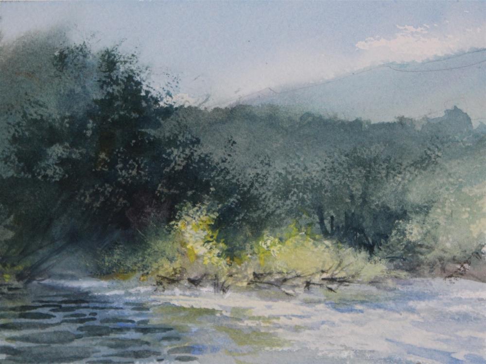 """White River"" original fine art by Cedar Kindy"