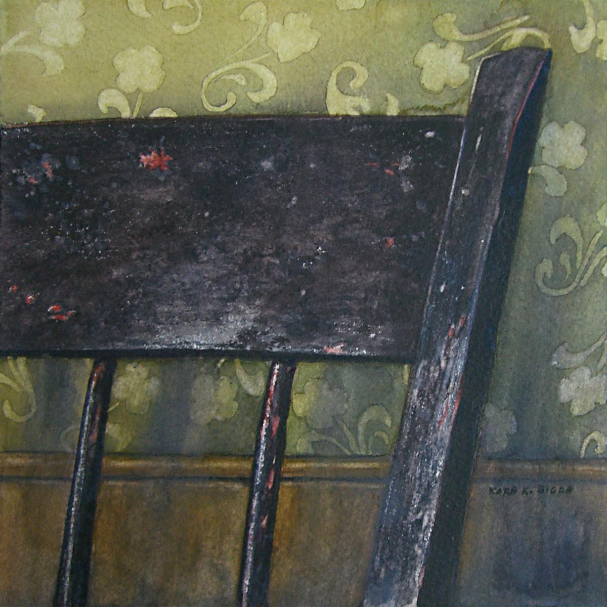 """Ma's Chair"" original fine art by Kara K. Bigda"