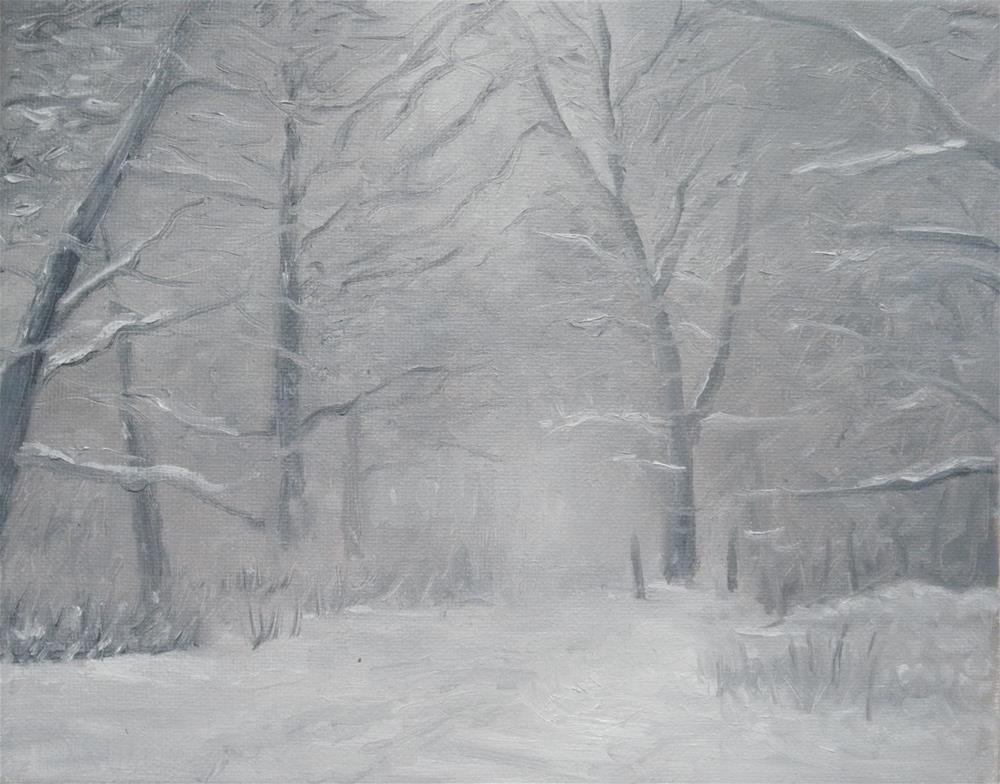 """Winter Snow Scene"" original fine art by Kirk Kerndl"