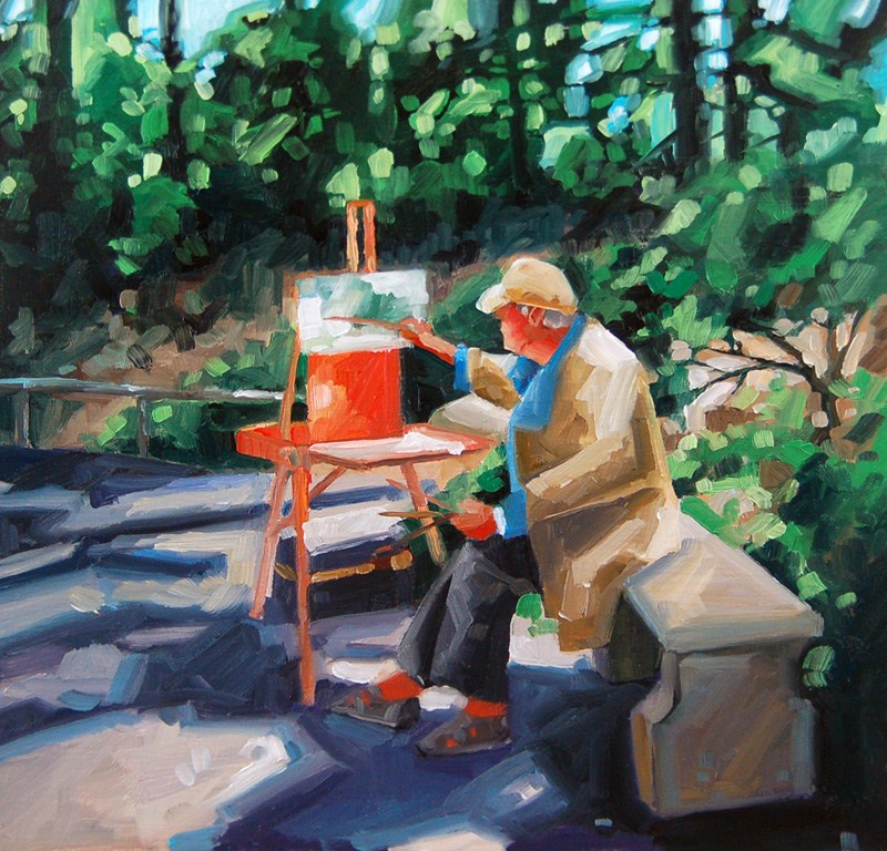 """No 415 The Painter"" original fine art by Robin J Mitchell"