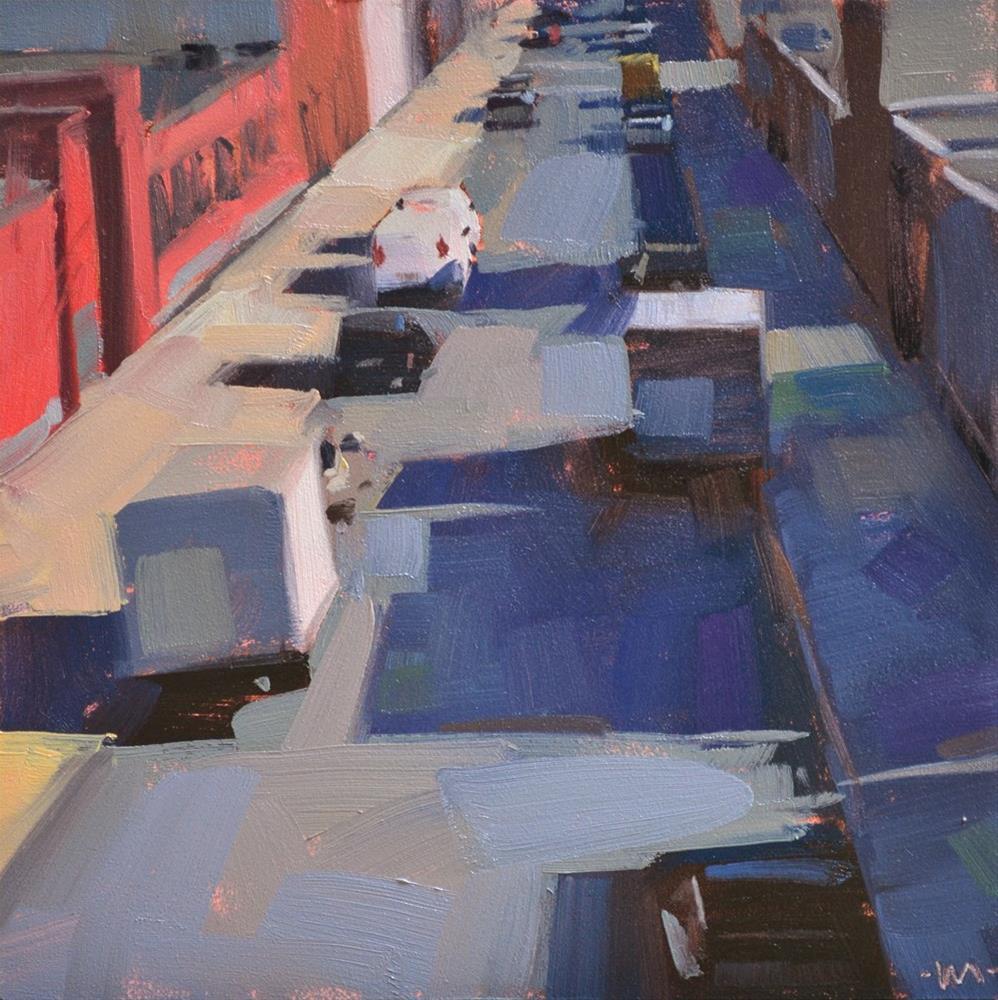 """View From the Train"" original fine art by Carol Marine"