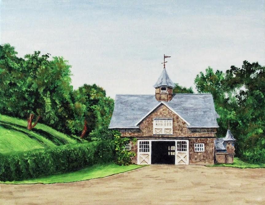 """The Carriage House"" original fine art by Nan Johnson"