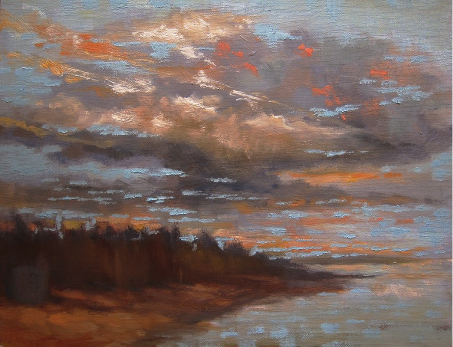 """Morning at the Saugatuck"" original fine art by Aurelio Saiz"