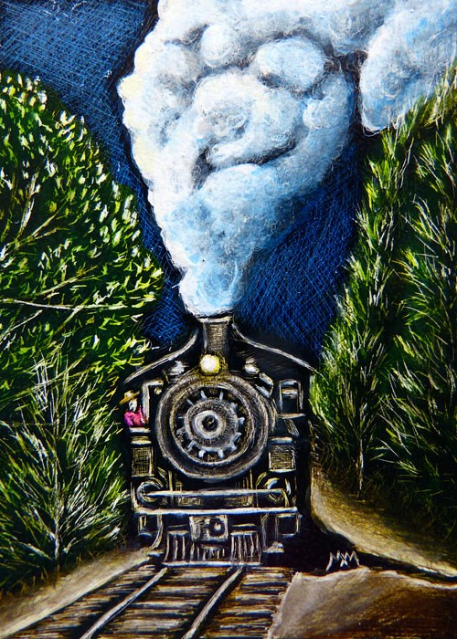 """Steam Engine - SA98"" original fine art by Monique Morin Matson"