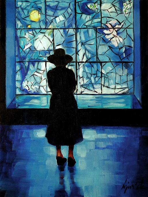 """Chagall"" original fine art by Karin Jurick"