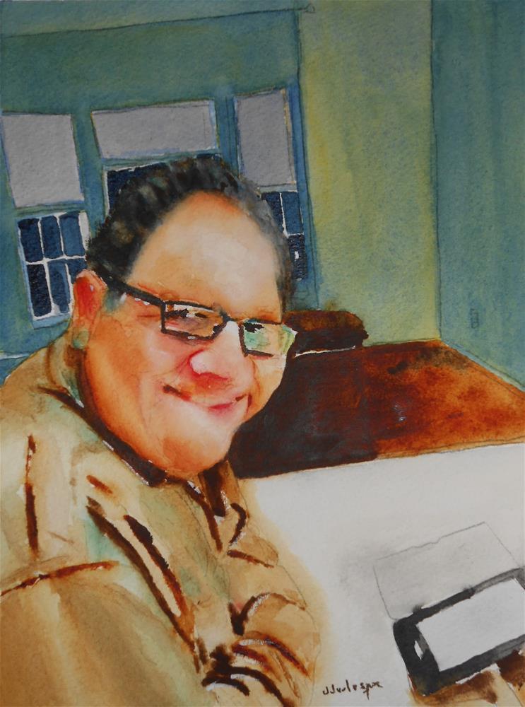 """Artist self portrait"" original fine art by Juan Velasquez"