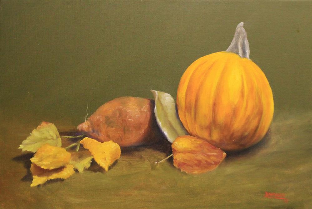 """""""Fall Still Life"""" original fine art by Daniel Varney"""