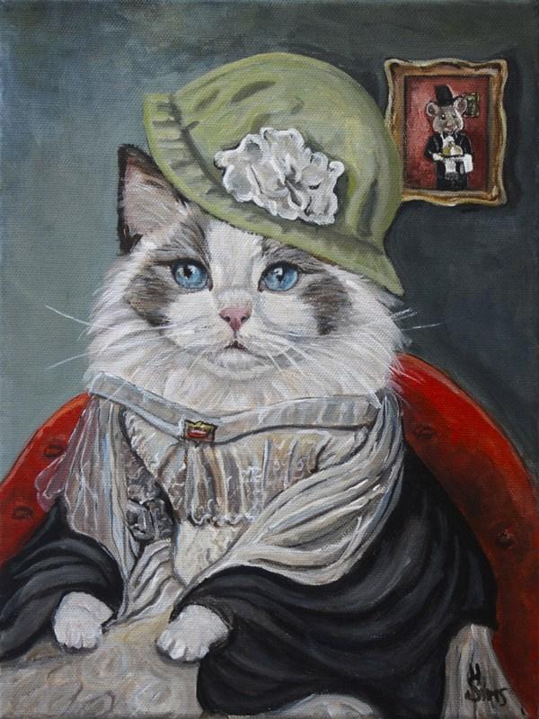 """Catness EverQueen"" original fine art by Heather Sims"