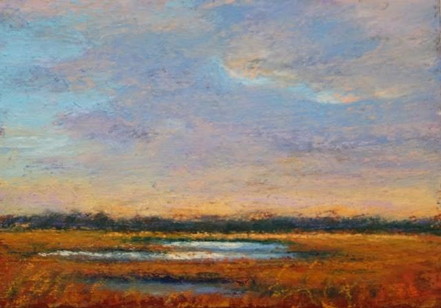 """Sun on the Marsh"" original fine art by Sharon Lewis"