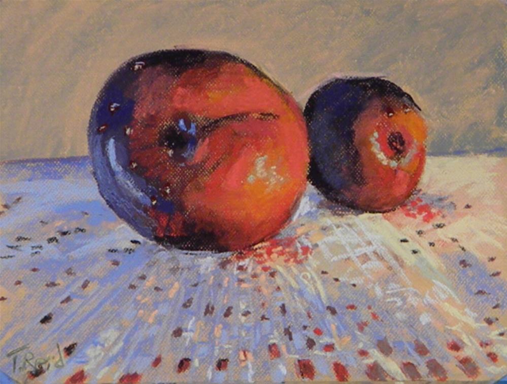 """""""Two plums"""" original fine art by Toby Reid"""