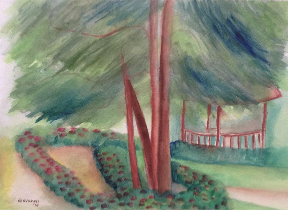"""""""Mussinger Gardens"""" original fine art by Giovanni Antunez"""