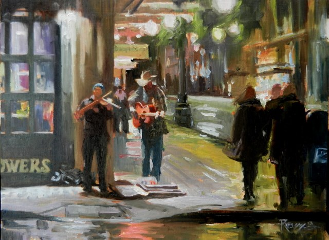 """""""The Last Act Seattle city, oil painting by Robin Weiss"""" original fine art by Robin Weiss"""
