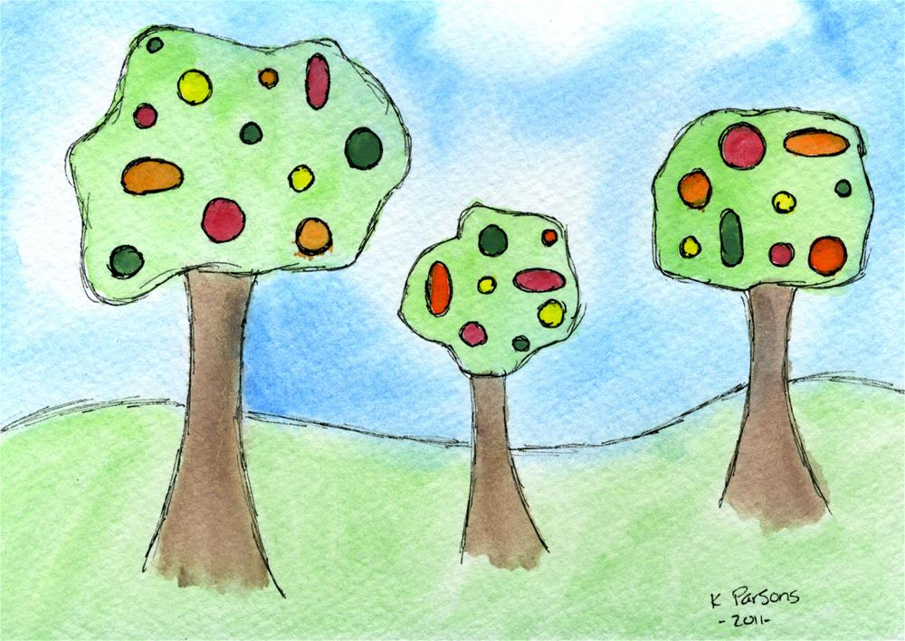 """We Three Trees"" original fine art by Kali Parsons"