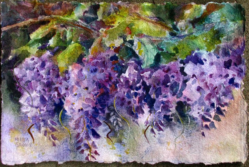 """Wisteria in Bloom"" original fine art by Melissa Gannon"