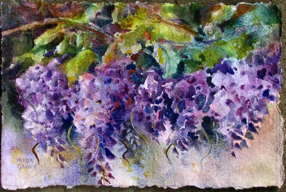 """Wisteria in Bloom"" original fine art by Melissa Gannon"