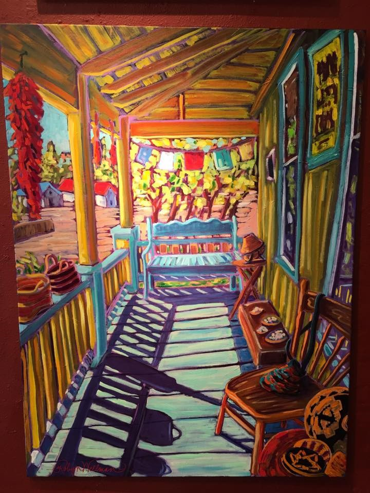 """Porch View"" original fine art by Robyn Suzanne"