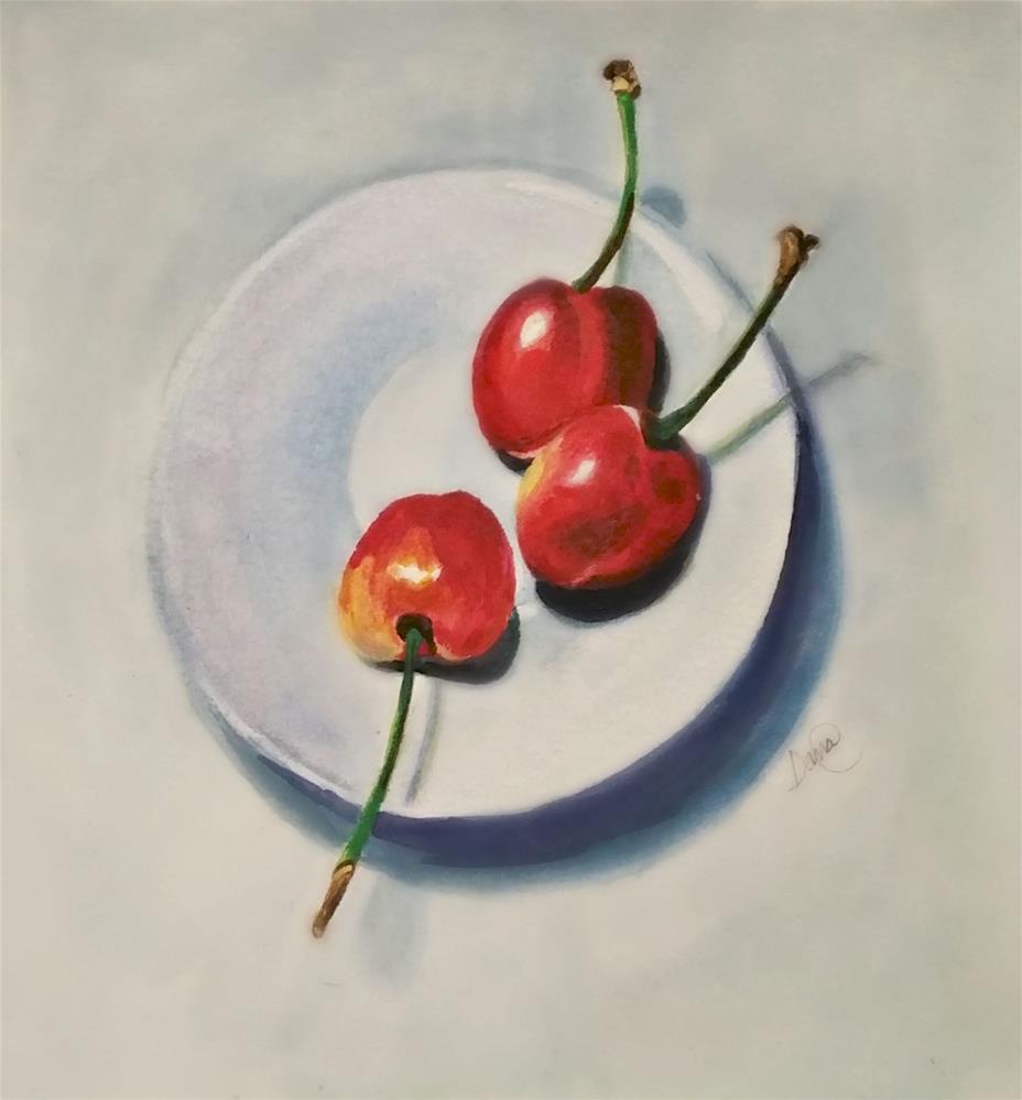 """""""Cherries Anyone"""" original fine art by Dana C"""