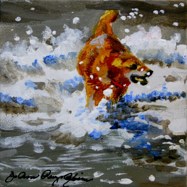 """Water Dog"" original fine art by JoAnne Perez Robinson"