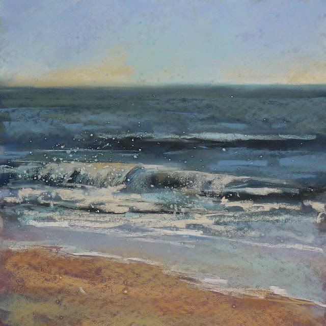 """A Quick Tip for Painting the Surf"" original fine art by Karen Margulis"