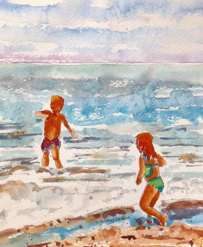"""Siblings 13105"" original fine art by Nancy Standlee"