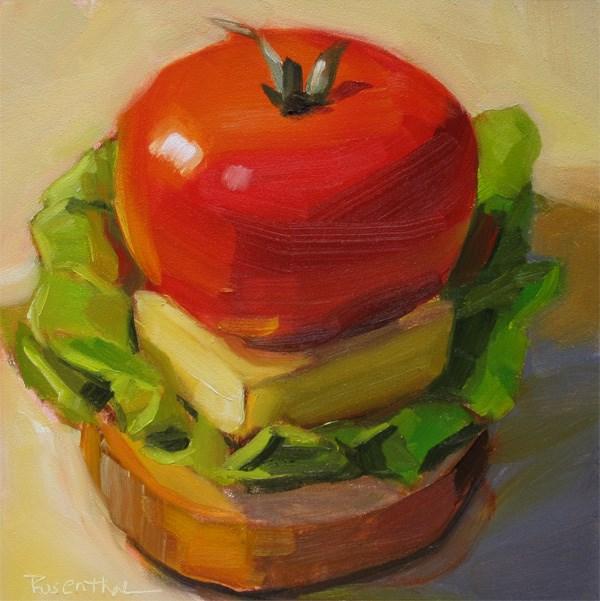"""""""A Well Balanced Lunch"""" original fine art by Robin Rosenthal"""
