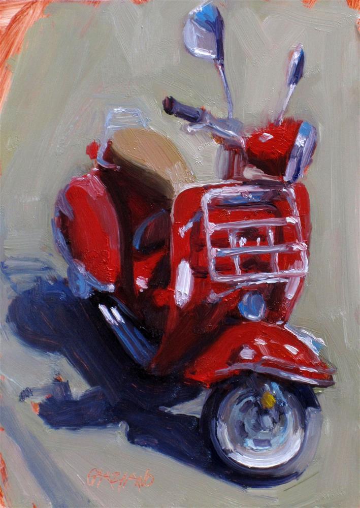"""scooter"" original fine art by Dan Graziano"