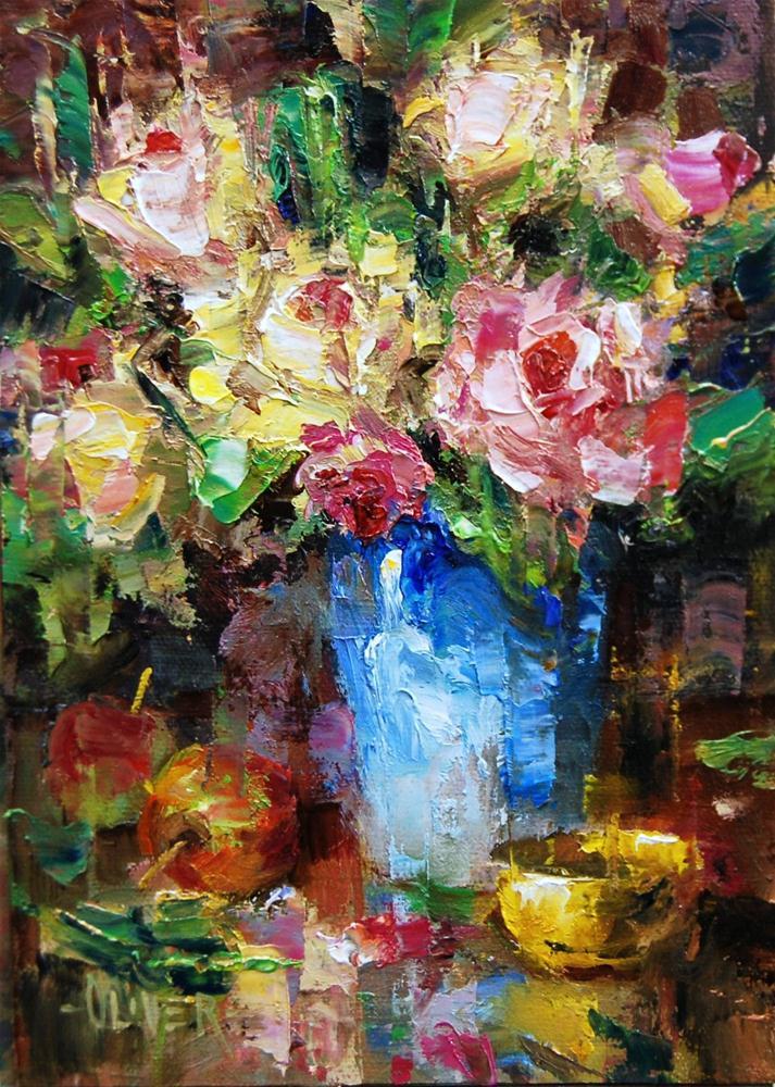"""""""The Rose Bouquet"""" original fine art by Julie Ford Oliver"""