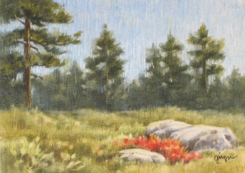 """View from the Trail"" original fine art by Ginger Pena"