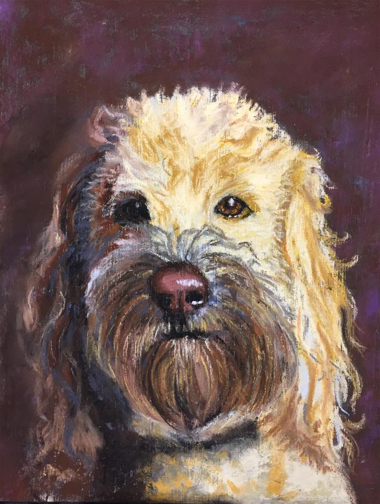 """Golden doodle"" original fine art by Natasha Ramras"