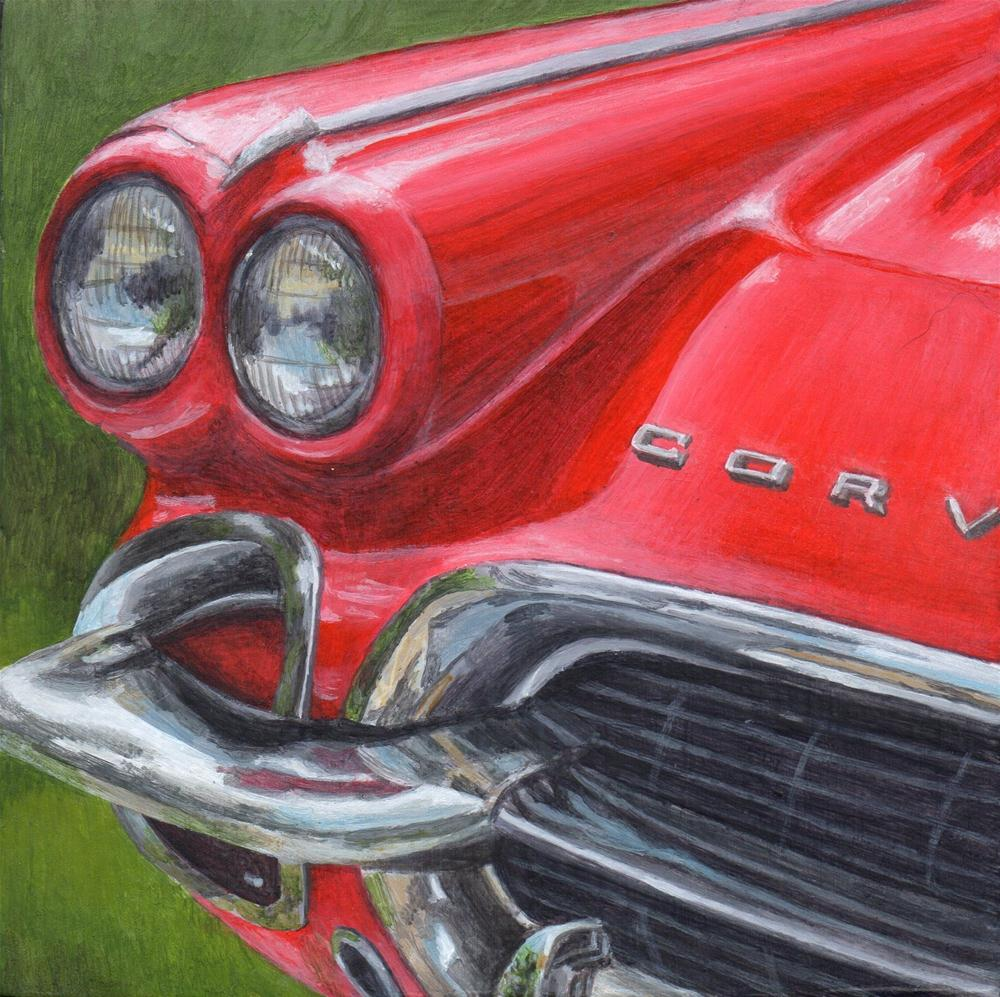 """'62 Corvette"" original fine art by Debbie Shirley"