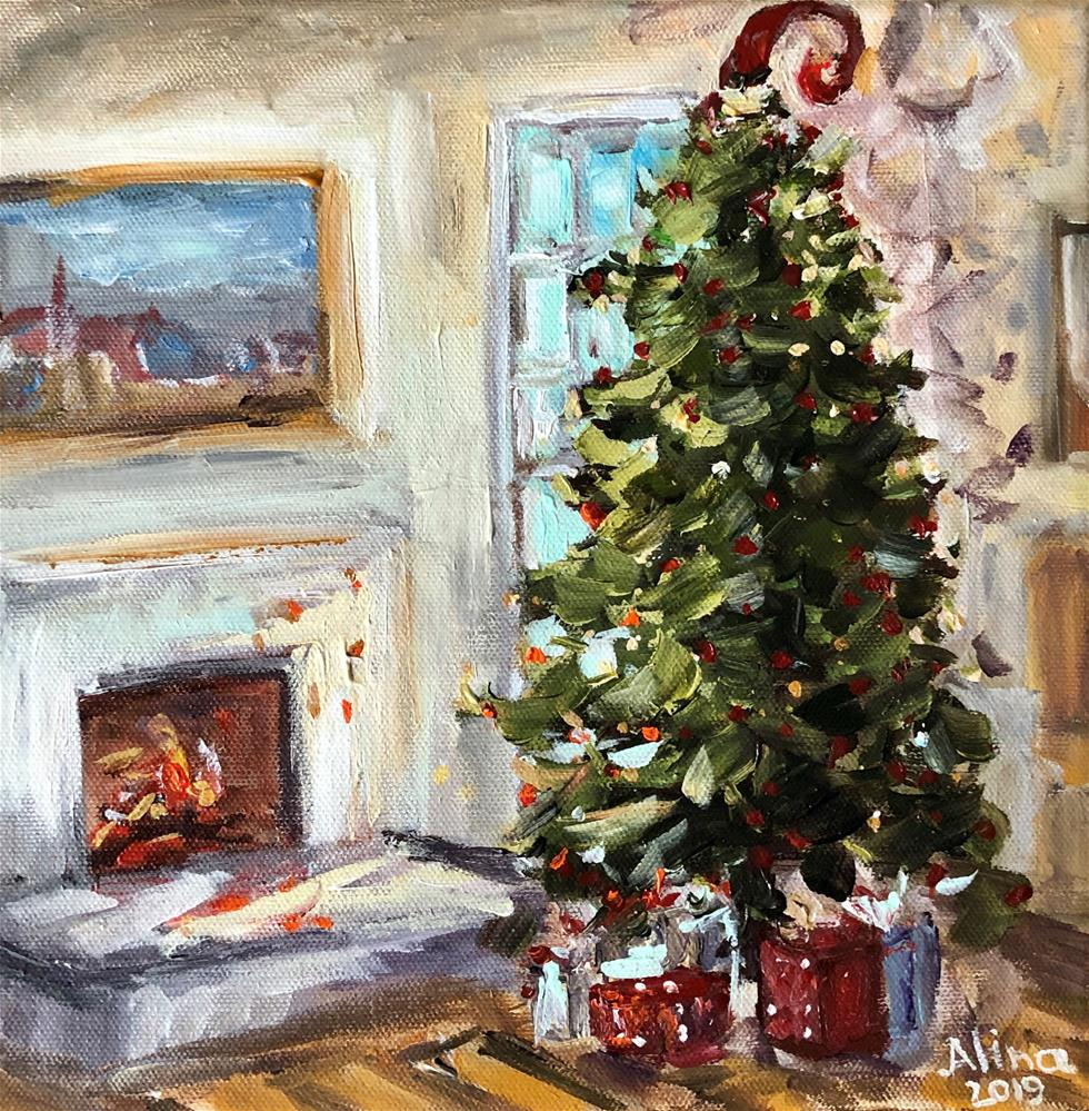 """Christmas Tree"" original fine art by Alina Vidulescu"