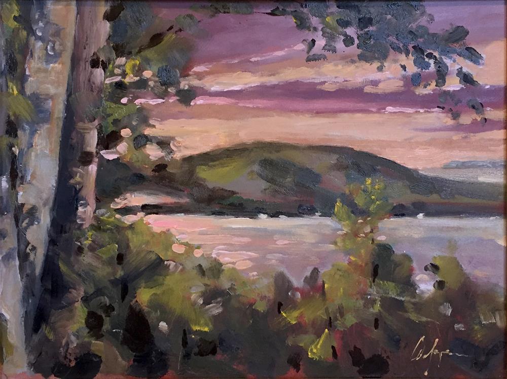 """Glen Arbor Sunset"" original fine art by Cornelis vanSpronsen"
