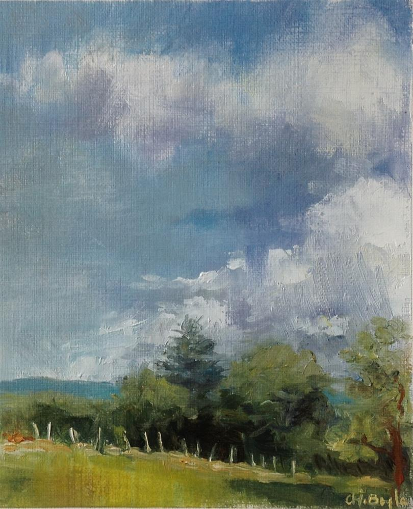 """""""French countryside"""" original fine art by Christine Bayle"""