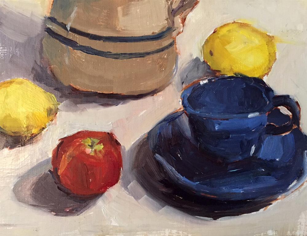 """The Blue Cup"" original fine art by Marcia Hodges"