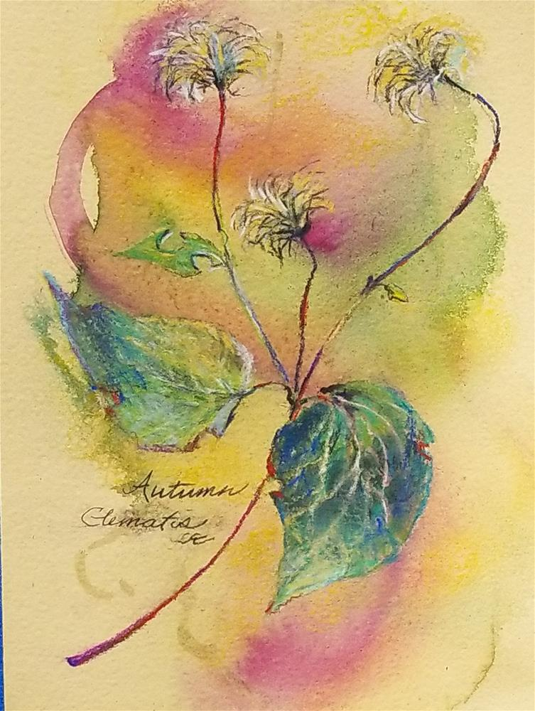 """Autumn - Clematis"" original fine art by Jean Krueger"