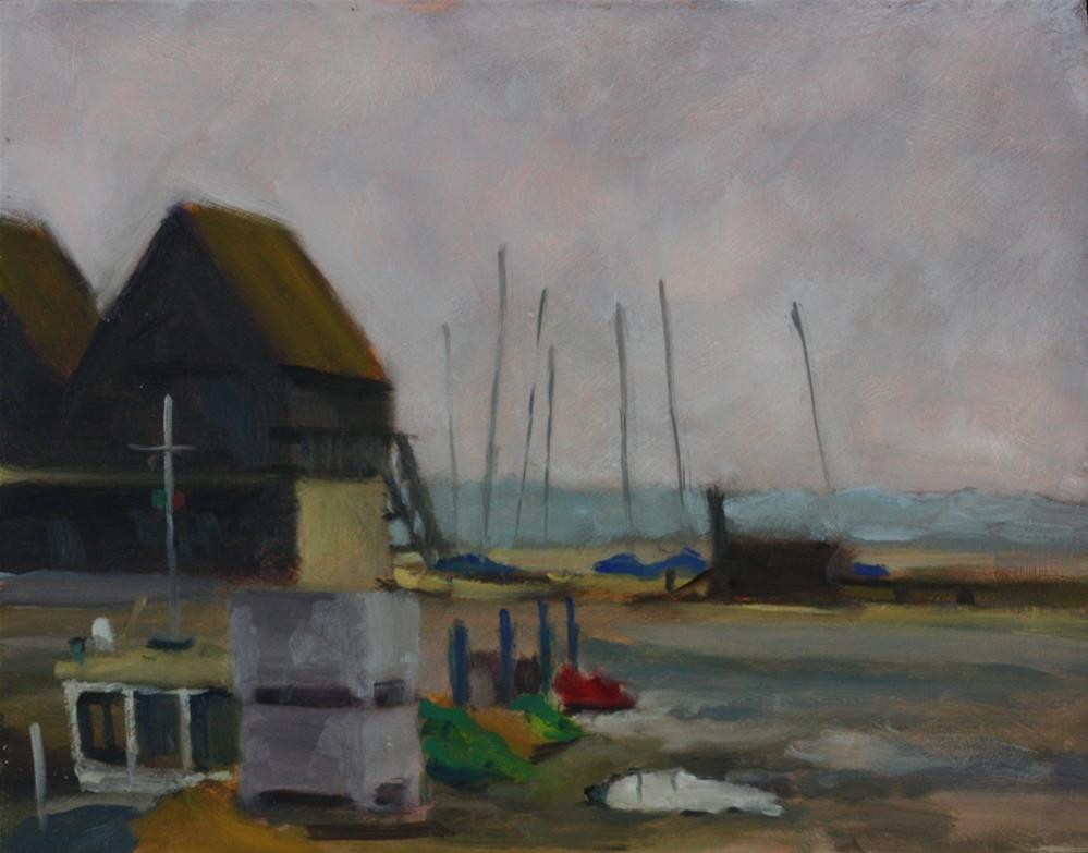 """West from Whitstable harbour"" original fine art by Graham Townsend"