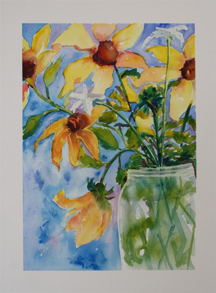 """""""The Earth Laughs In Flowers"""" original fine art by Maggie Flatley"""