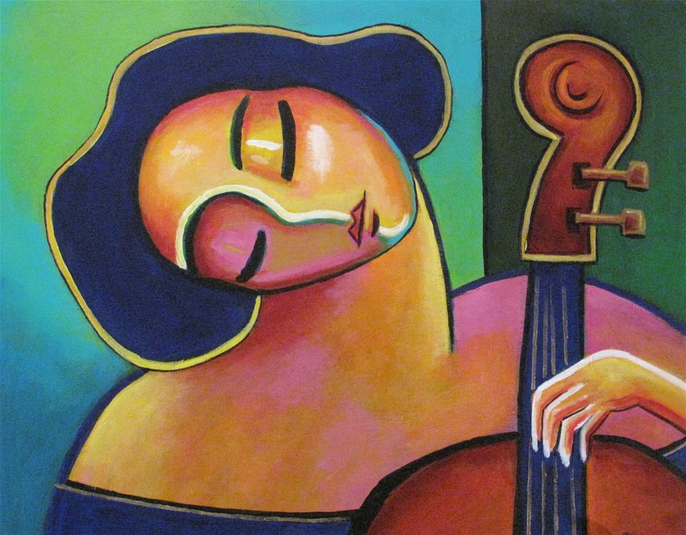 """""""Cello Solo"""" original fine art by Stuart Glazer"""