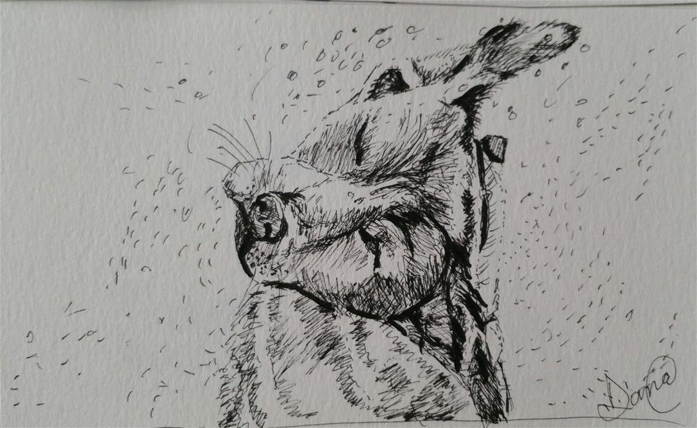 """Dog Dry"" original fine art by Dana C"