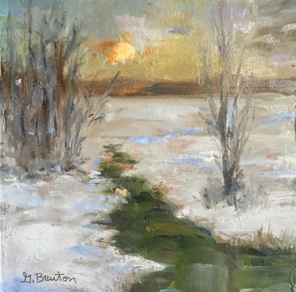 """Winter Scene"" original fine art by Gary Bruton"