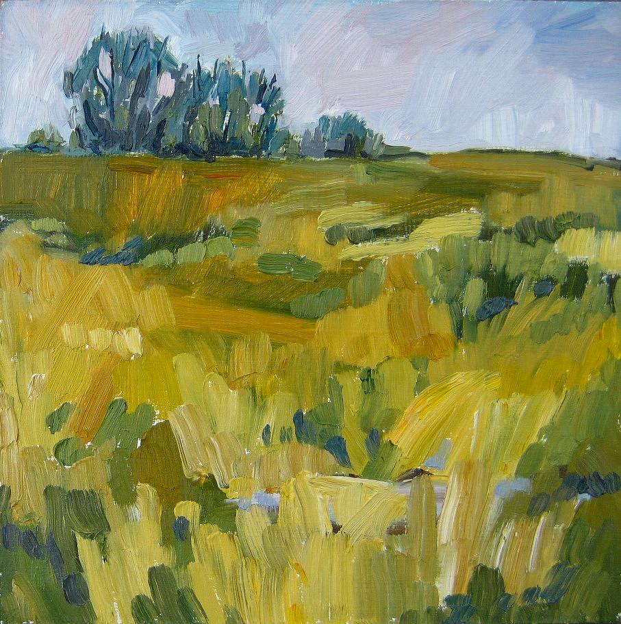 """""""Patchwork Prairie"""" original fine art by Nicki Ault"""