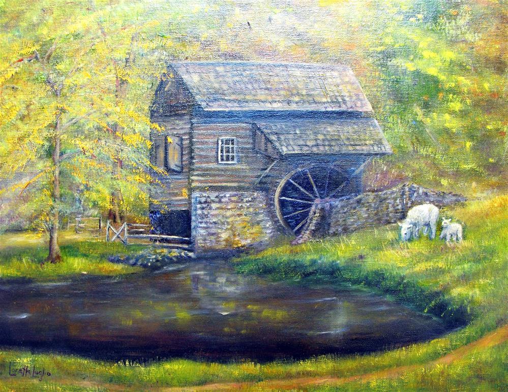 """""""Bromley Mill"""" original fine art by Loretta Luglio"""