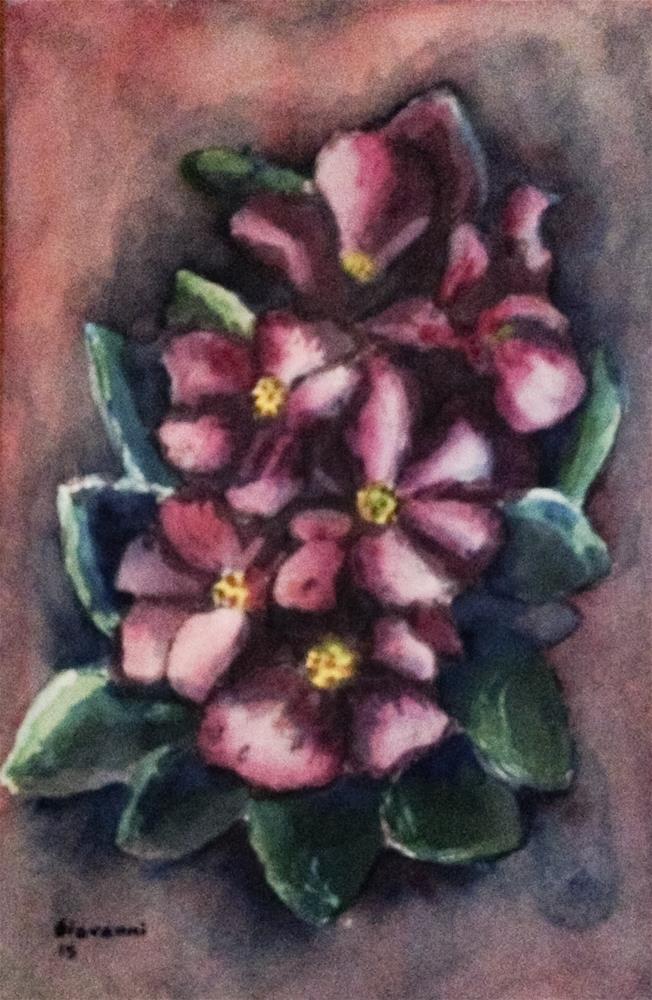 """Flowers (Purple flowers)"" original fine art by Giovanni Antunez"