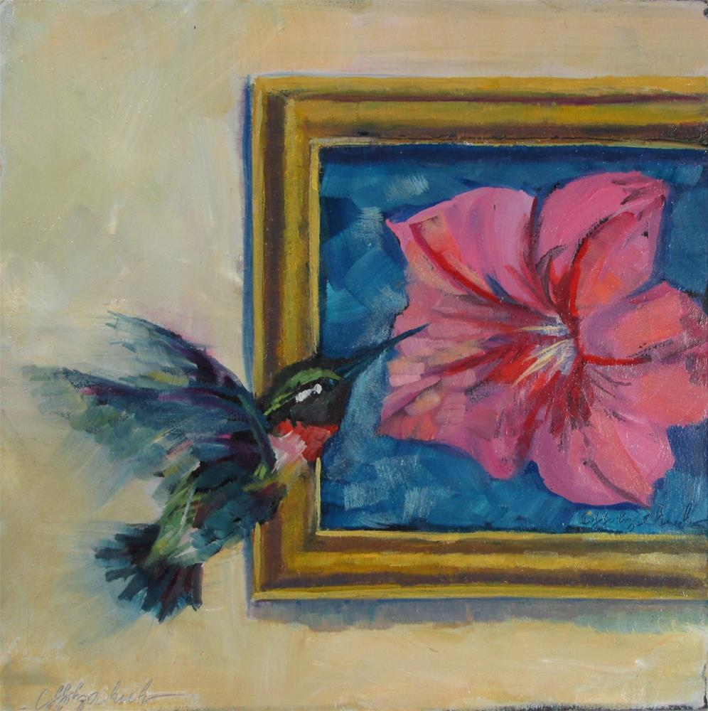 """""""The Visitor"""" original fine art by Christine Holzschuh"""