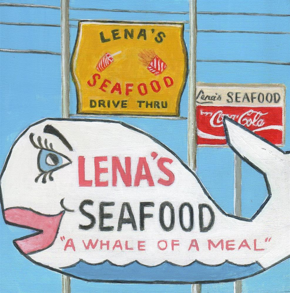 """Lena's"" original fine art by Debbie Shirley"