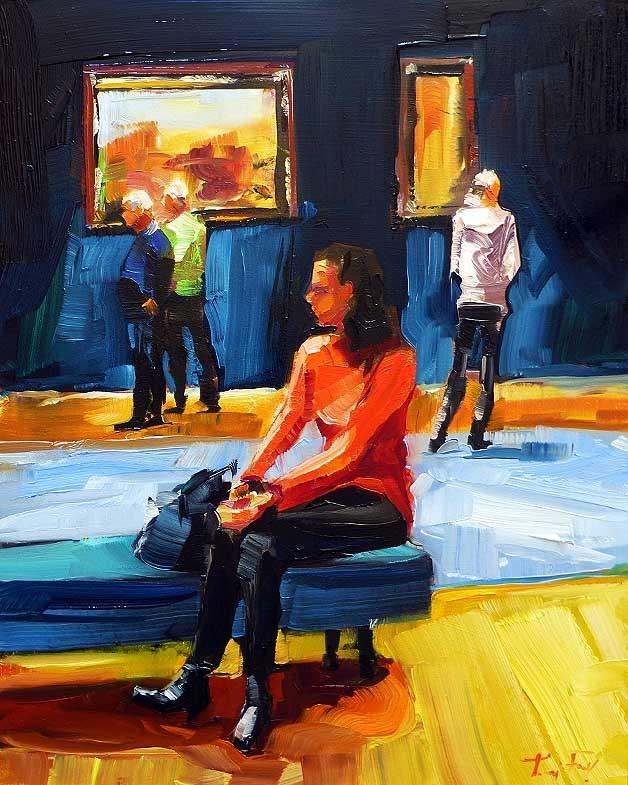 """""""In Gallery"""" original fine art by Jurij Frey"""