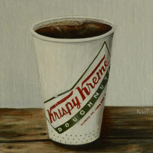 """Krispy Kreme Coffee - commission"" original fine art by Kim Testone"