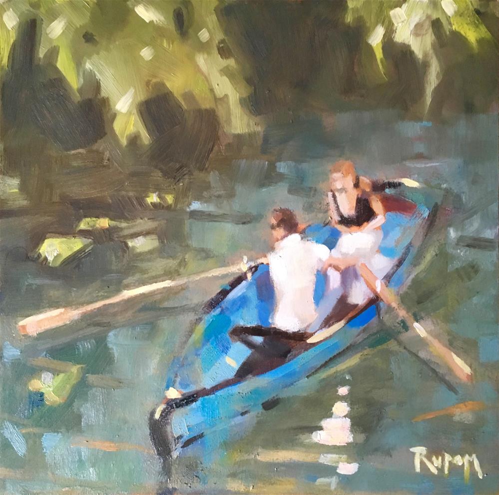 """River Blue"" original fine art by Rupam Barthakur"